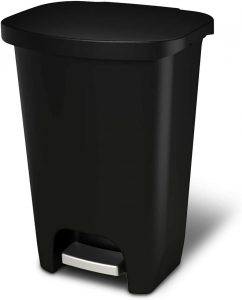 GLAD GLD-74030 Plastic Step Trash Can - Kitchen Garbage Can