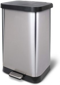 Glad Stainless Steel Step Trash Can with Clorox Odor Protection - Odor Control Trash Can