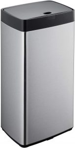 Simpli-Magic 79207 Stainless Steel Sensor Trash Can - Smell Proof Garbage Can