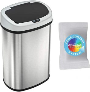 iTouchless 13 Gallon SensorCan Touchless Trash - Stainless Steel Garbage Can